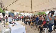 Claudia Hernández  dar a conocer el Proyecto Integral de Drenaje Pluvial.