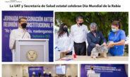 La UAT y Secretaría de Salud estatal celebran Día Mundial de la Rabia
